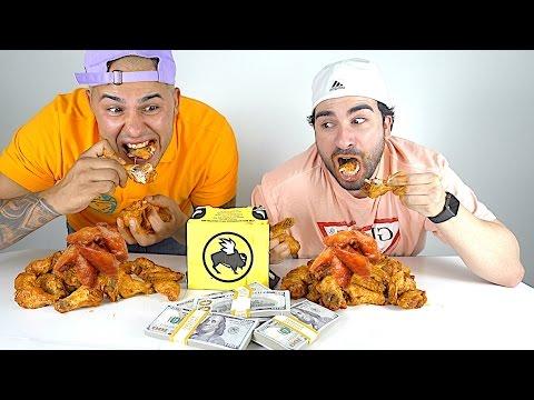 BLAZIN BUFFALO WILD WINGS CHALLENGE!!!!! $10,000 CASH BET!!