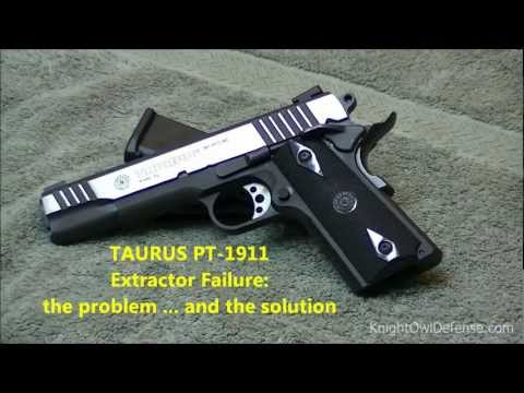 Broken Extractor on a Taurus PT1911 Series 80 Pistol