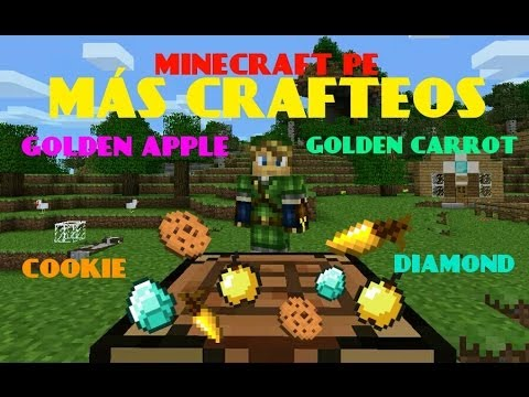 MÁS CRAFTEOS MOD MINECRAFT PE GOLDEN APPLE COOKIES GOLDEN CARROT