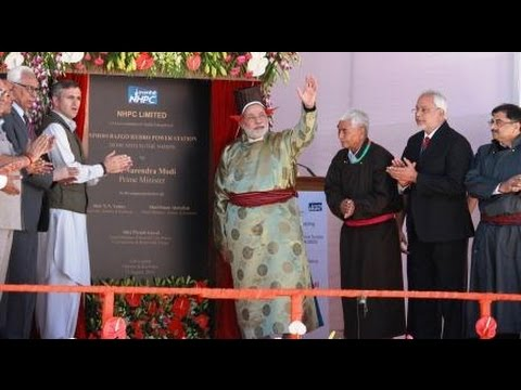 PM Modi Lays Foundation Stone of Power Transmission line & Inaugurates Hydropower Project in Leh