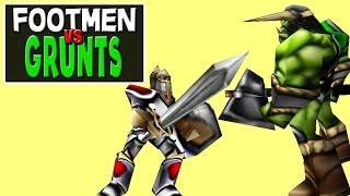 Warcraft 3 - Footmen vs Grunts