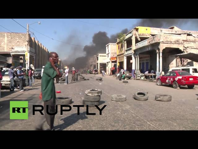 Haiti: See tyres burn, truck overturned in anti-govt protests