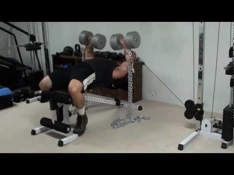 Triple Hybrid Training - Chain Dumbell Cable Bench Press Image 1