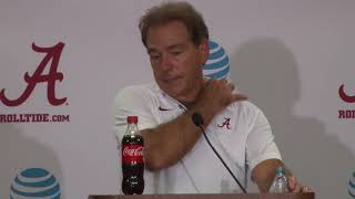 Alabama's Nick Saban post game presser (Colorado State)