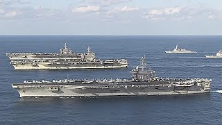 Unparalleled Strength: US Showcases Its Firepower In Rare Three-Carrier Drill In Sea Of Japan