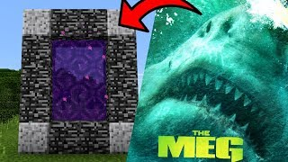 How To Make a Portal to the MEGALODON Dimension in Minecraft PE | MCPE Journalist