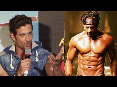 Hrithik Roshan comments on Shahrukh Khan's 8 PACK ABS in Happy New Year