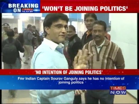 Former captain Sourav Ganguly says no to politics