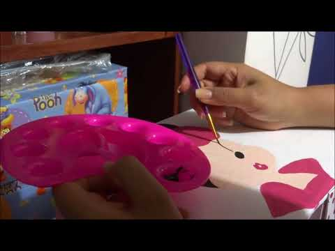 organizador para implementos de manicure hecho de cartón