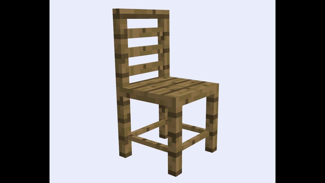 Как сделать столы и стулья в майнкрафт
