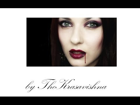 Vampire Makeup Tutorial Transformation Halloween Сумерки