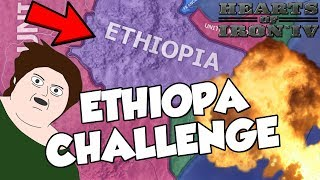 Trying To Save Ethiopia Challenge on Hearts of Iron 4 HOI4