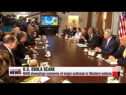WHO downplays Ebola outbreak fears in U.S.   미국, 에볼라공포 확산
