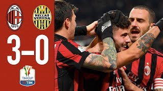 Highlights AC Milan 3-0 Hellas Verona - TIM Cup Round of 16 - 2017/18