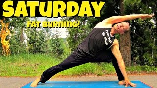 Saturday - Power Yoga Cardio Fat Burning Routine - 7 Days of Yoga Challenge #poweryoga