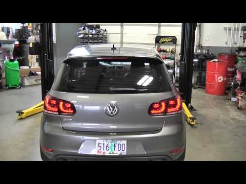 MK6 GTI Smoked LED Taillights & Scirocco Hatch Pop Kit