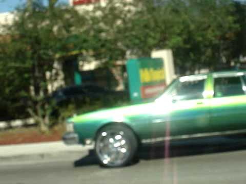 """CANDY SLIME GREEN DELTA 88 ON 24"""" RIMS"""