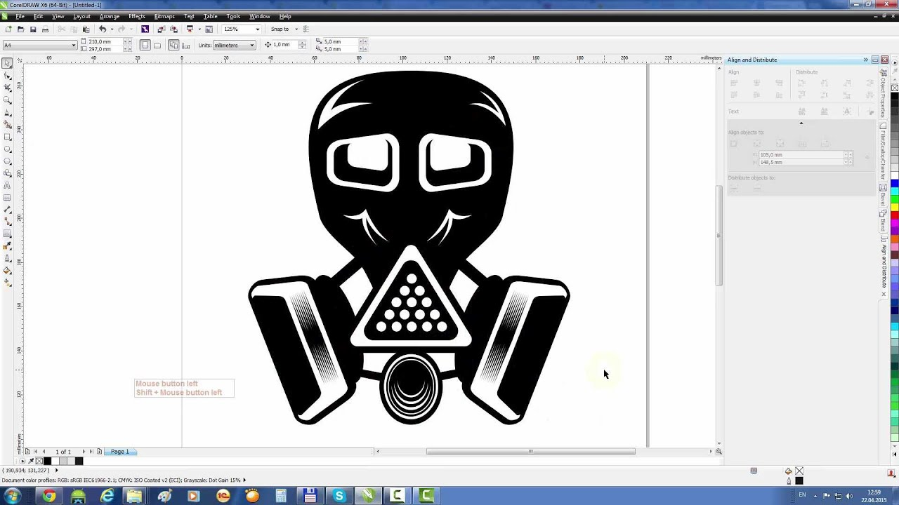 Gas Masks Drawing Coreldraw Tutorial Draw a Gas