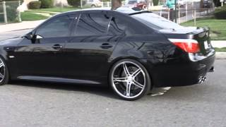 BMW E60 M5 Burnout (Eisenmann Exhaust, Hartge Wheels, etc.) - Great Sound!