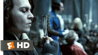 Sweeney Todd (3/8) Movie CLIP - Shaving Contest (2007) HD