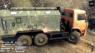 SPINTIRES 2014 - The Hill Map - Kamaz Utility Truck Driving to the MAZ 537 Location