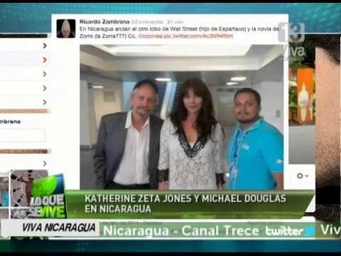 Katherine Zeta Jones, Michael Douglas y Scarleth Johanson se encuentran en Nicaragua