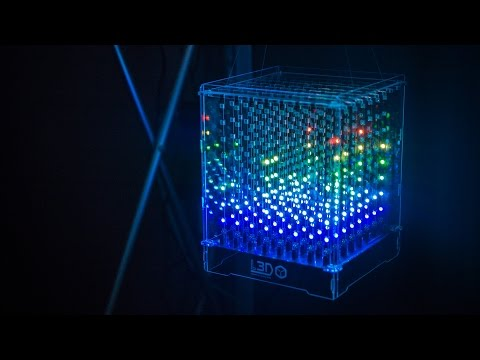 8x8x8 Programmable LED Cube!