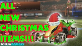 Rocket League - All New 2016 Christmas Items!!!