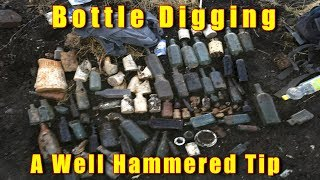 BOTTLE DIGGING 7FT IN 2 HOURS LOTS OF BOTTLES EXPLORING A VICTORIAN DUMP