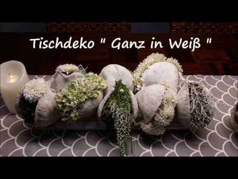 "DIY Tischdeko "" Ganz in weiß "" - Bärbel´s Wohn & Deko Ideen"