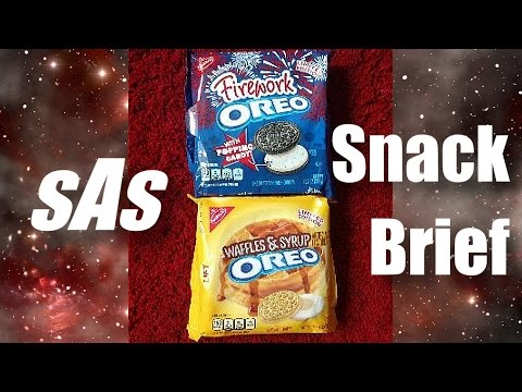 sAs SnackBrief!: Oreo's Waffles & Syrup and Fireworks Flavors NEW! LIMITED EDITION!