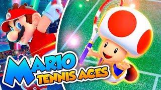 ¡El champiñoncete peleón! - #08 - Mario Tennis Aces en Español  (Switch) DSimphony