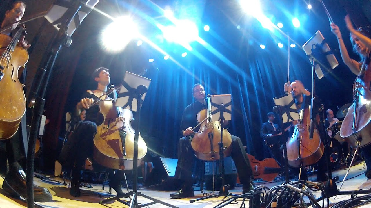 "Portland Cello Project getting down to this swift beat, performing Taylor Swift's ""Shake it Off"" on December 6, 2014 at the Aladdin Theater in Portland, Oreg..."