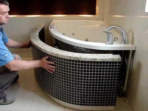 Wanna z prysznicem i hydromasażem