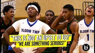 These Suburbs AIN'T SOFT! ULTRA-PHYSICAL Game! Bloom vs Morgan Park: Adam Miller 31 Points!