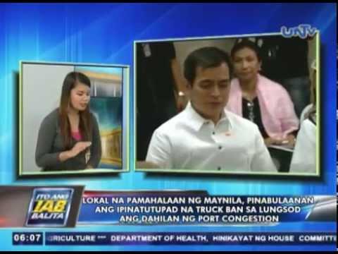 Manila City Gov't., pinabulaanan ang ipinatutupad na truck ban ang dahilan ng port congestion