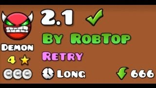 2.1 DEMON LEVEL [4★] ROBTOP 2.1 TEST OR HACKER?!