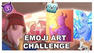 3 Emojis art challenge!! (watch this instead of panicking abt the Corona!!)