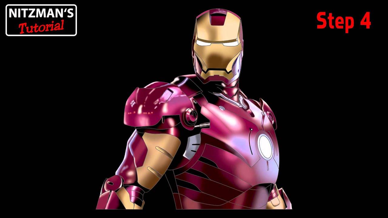 Iron Man Inside Helmet Photoshop Tutorial Iron Man in Photoshop