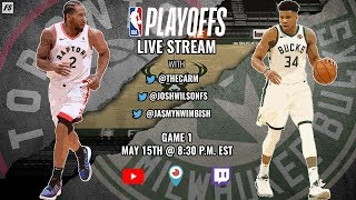 NBA Eastern Conference Finals:  Toronto Raptors vs Milwaukee Bucks (Game 1)