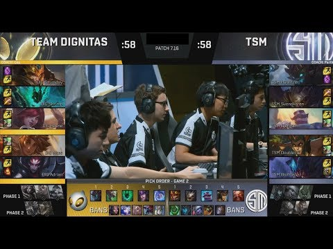 DIG (Ssumday Jarvan) VS TSM (Bjergsen Cassiopeia) Game 3 Highlights - 2017 NA LCS Summer Semifinals
