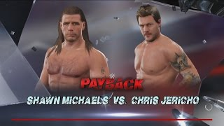 WWE 2K17-Shawn Michaels vs Chris Jericho -Fall Count Anywhere Match WWE 2K17 Gameplay 2017 (PS4)