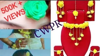 Hand made Jewellery set for Haldi and Mehndi ceremony