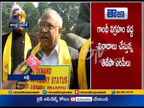 TDP MPs Protest Continue at Parliament | Over AP Special Status | FAce to face with MPs