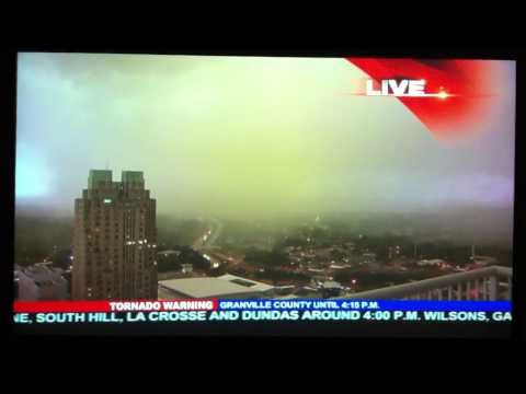 Tornado in downtown Raleigh, NC