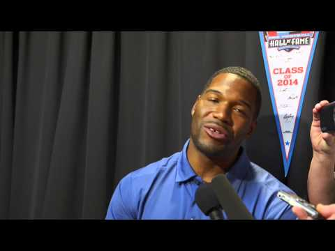 Michael Strahan talks about his upcoming Hall of Fame induction