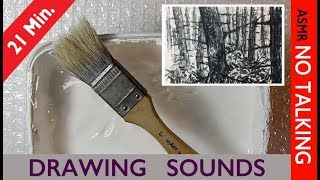 ASMR DRAWING SOUNDS - Drawing on BUBBLE WRAP - No Talking