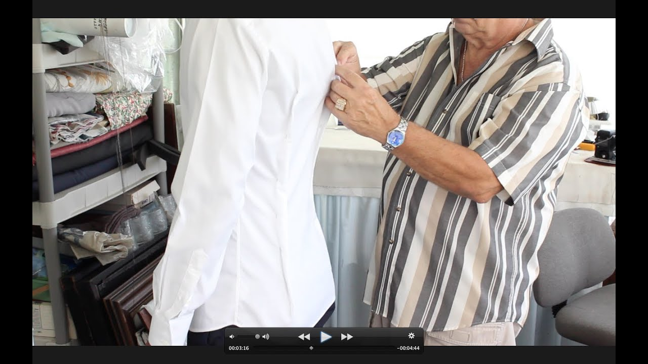 How to tailor a dress shirt youtube for Tailoring a dress shirt