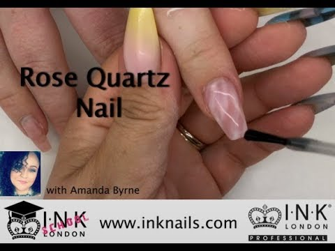 Rose Quartz nail using INK London Acrylink