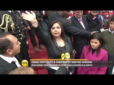 ONAGI destituye del cargo de Gobernador a sobrino de Nadine Heredia